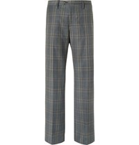 Stella Mccartney Grey Prince Of Wales Checked Wool Suit Trousers Gray