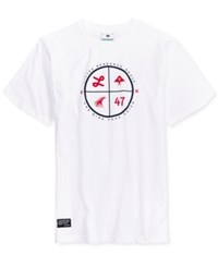 Lrg Men's Right On Target Graphic Print Cotton T Shirt White