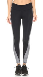 Rebecca Minkoff Rm Active Tlc Striped Leggings Black White