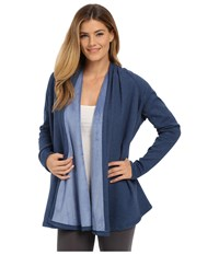 Ugg Meadow Draped Shoulder Shawl Blue Jay Heather Women's Long Sleeve Pullover