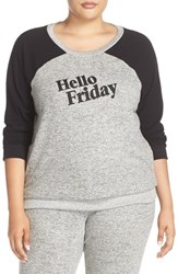 Make Model Plus Size Women's 'Hello Friday' Crewneck Lounge Sweater