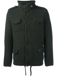 Bark Knitted Shirt Jacket Green