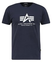 Alpha Industries Print Tshirt Rep Blue Dark Blue