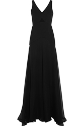 Mason By Michelle Mason Cutout Crepe And Silk Gown