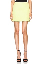 Versace Mini Skirt In Neon Yellow
