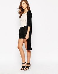 Ax Paris Longline Lightweight Cardigan Black