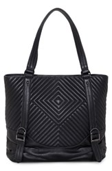 Vince Camuto Tave Quilted Leather Tote Black Noir