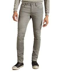 John Varvatos Star Usa Seamed Motorcycle Super Slim Fit Jeans In Reflection Grey Reflection Gray