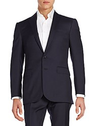 Ralph Lauren Black Label Anthony Pin Dot Striped Suit Navy Cream
