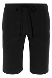 Joseph Matte Silk Shorts Black
