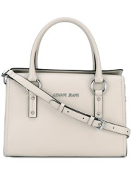 Armani Jeans Flap Tote Women Polyurethane One Size Nude Neutrals