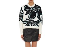 3.1 Phillip Lim Women's Floral Embroidered Cotton Cashmere Sweater Nude