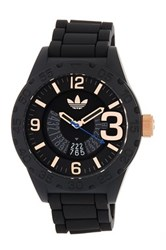 Adidas Men's Newburgh Silicone Strap Watch Black