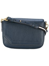 Bally Fold Over Closure Crossbody Bag Blue