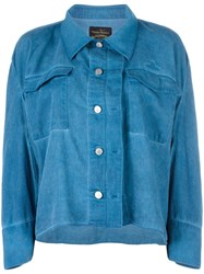 Vivienne Westwood Anglomania Loose Fit Cropped Shirt Blue
