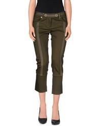Plein Sud Jeanius Trousers 3 4 Length Trousers Women Military Green