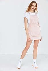 Dickies X Uo Bib Brace Mini Dress Pink