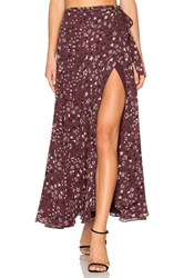 House Of Harlow X Revolve Willow Skirt Plum