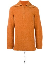 Maison Martin Margiela Oversize Textured Jumper Yellow Orange