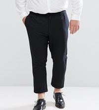 Bellfield Plus Cropped Trousers With Pleated Front Black