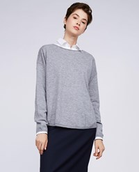 Aspesi Wool Sweater Light Grey