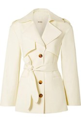 Khaite Billy Cotton Gabardine Coat Cream