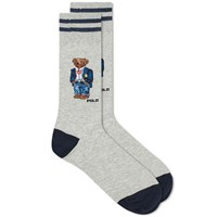 Polo Ralph Lauren Collegiate Bear Sock Grey