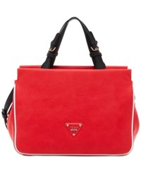 Guess Clare Girlfriend Satchel Red Multi