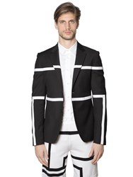 Bikkembergs Striped Light Wool Stretch Jacket