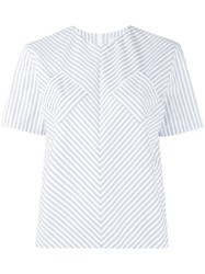 J.W.Anderson Contrast Pocket Striped Top White