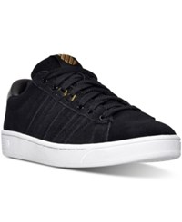 K Swiss Women's Hoke Fantasy Suede Cmf Casual Sneakers From Finish Line Black Gold White
