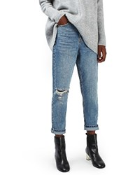 Topshop Petite Women's Ripped Mom Jeans
