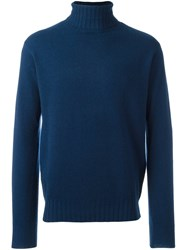 Aspesi Turtleneck Pullover Blue