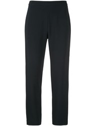 Brandon Maxwell Cigarette Trousers Blue