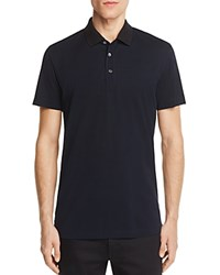 Theory Lukis Contrast Collar Slim Fit Polo Shirt 100 Bloomingdale's Exclusive Eclipse