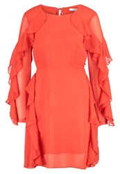 Glamorous Summer Dress Bright Orange