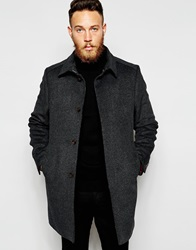 Ted Baker Wool Mac Charcoal