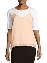 Lucca Couture Solid Satin Slip Top Blush