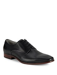 Steve Madden Perforated Leather Oxfords Black