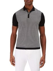 Efm Engineered For Motion Peninsula Mesh Stitched Polo Sweater Grey