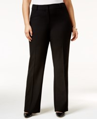 Alfani Plus Size Straight Leg Trousers Only At Macy's Deep Black