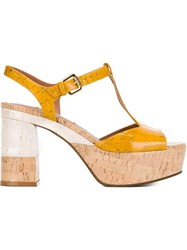 L'autre Chose Platform Sandals Yellow And Orange