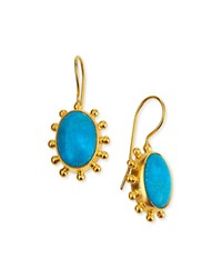 Dina Mackney Turquoise Pinwheel Drop Earrings