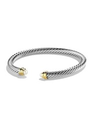 David Yurman Cable Classics Bracelet With Pearls And Gold Silver