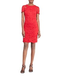 Ralph Lauren Petites Lace Sheath Dress Red