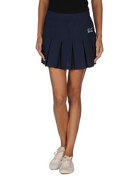 Emporio Armani Ea7 Mini Skirts Blue