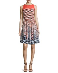 Nic Zoe Fiore Sleeveless Printed Twirl Dress Multi Petite