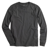 J.Crew Tall Broken In Long Sleeve Tee Faded Black