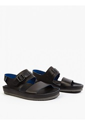 Officine Creative Black Leather Salinas' Sandals