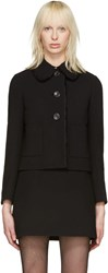 Miu Miu Black Ruffle Jacket